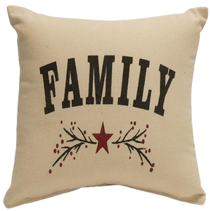 "Family 12"" Square Pillow"