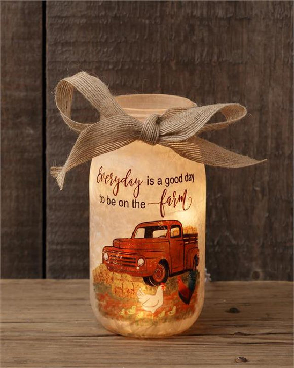 Farm Memories Luminary With Vintage Truck