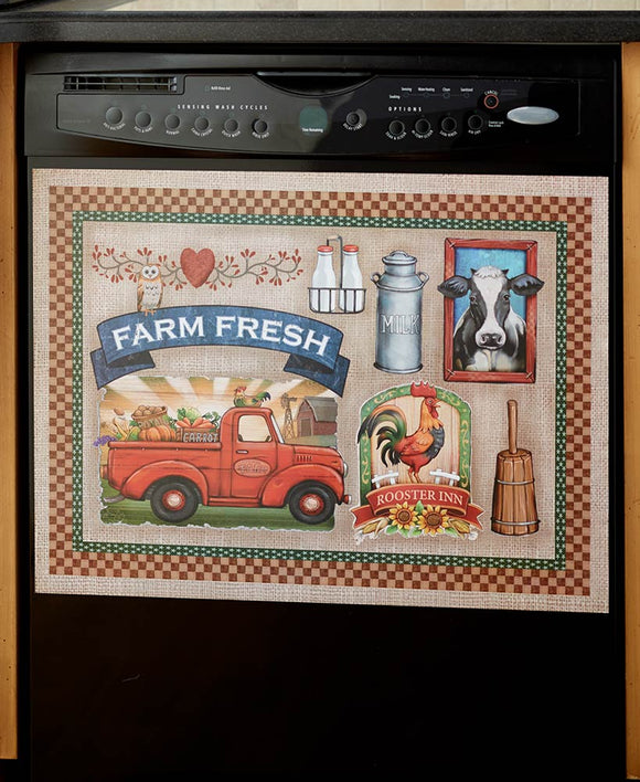 Farm Fresh Country Dishwasher Magnet