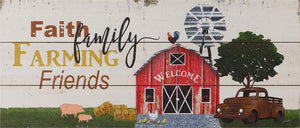 Farm Memories Wood Sign With Vintage Truck