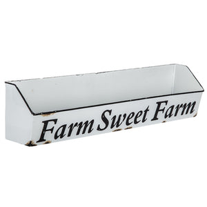 Farm Sweet Farm Metal Wall Shelf