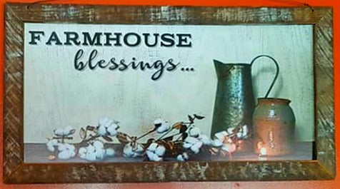 Farmhouse Blessings Framed Print 12
