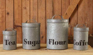 Farmhouse Metal Canister Set