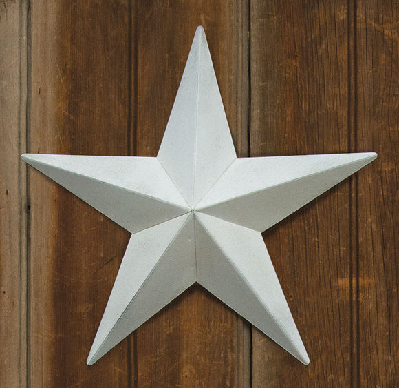 Farmhouse White Barn Star - Comes in 5 sizes!