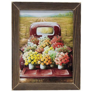 Fresh Picked Flowers Truck Print