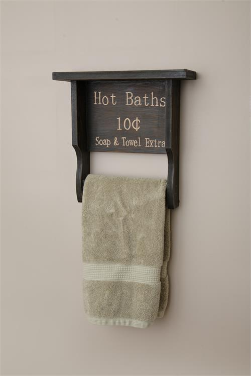 Hot Bath Wood Towel Bar