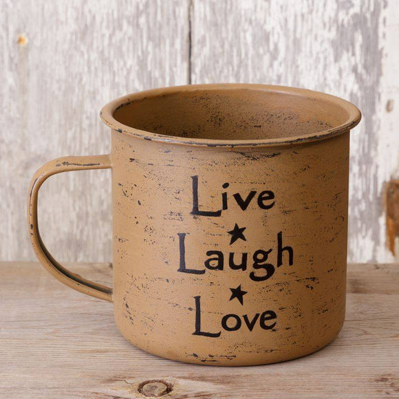 Live ~ Laugh ~ Love Large Tin Mug