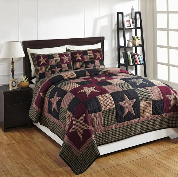 Plum Creek Queen 3 Pc Quilt Set