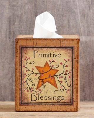 Primitive Blessings Tissue Box Cover
