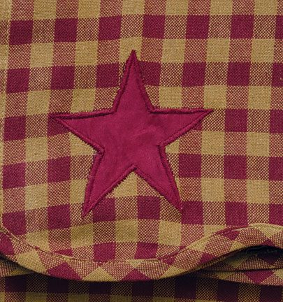 Burgundy Star Scalloped Panels- Set of 2