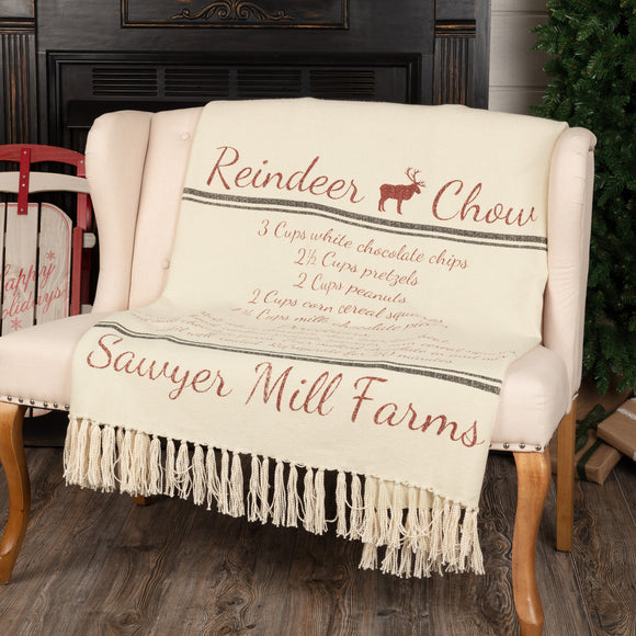 Sawyer Mill Reindeer Chow Woven Throw