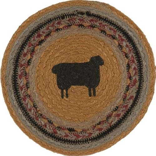 Braided Sheep Jute Trivet