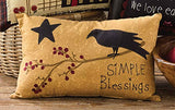 Simple Blessings Crow Pillow