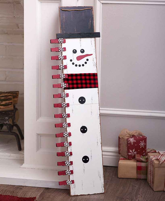 Snowman Card or Photo Holder 3 ft tall