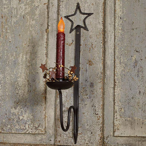 "Black 15"" Star Wall Sconce"