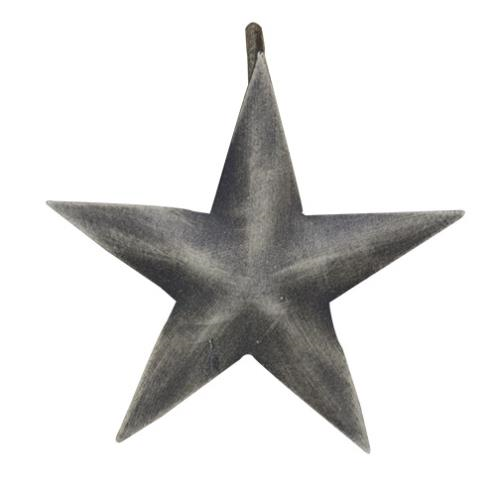 Aged Metal Star Shower Curtain Hooks