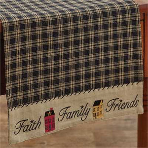 "Sturbridge Faith Family Friends 54"" Table Runner"