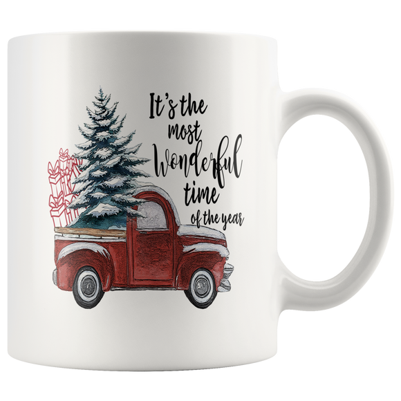Vintage Truck Mug - It's The Most Wonderful Time Of The Year