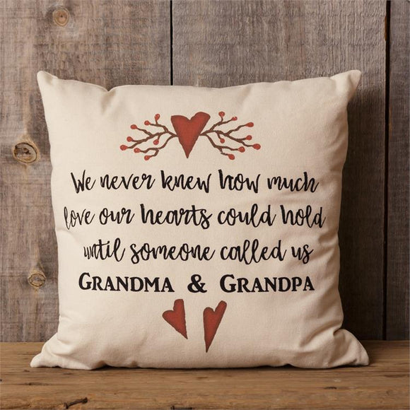 We Never Knew How Much Our Hearts Could Hold Pillow Grandparents Pillow