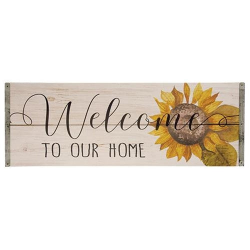 Welcome To Our Home Sunflower Sign
