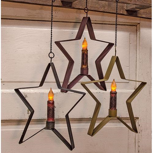 Whimsical Hanging Star Taper Holder