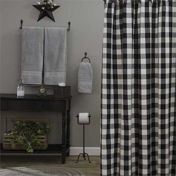Wicklow Black And White Buffalo Check Shower Curtain