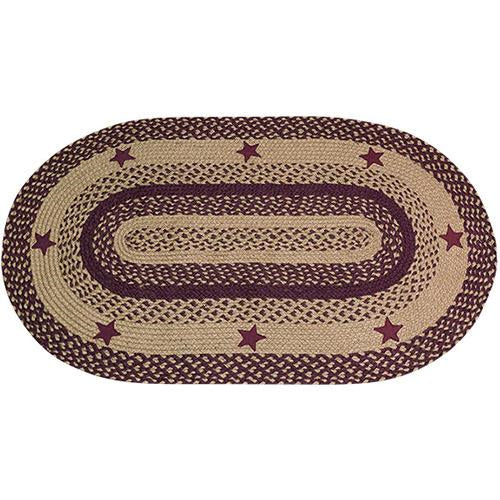 Wine Star Oval Rug 27