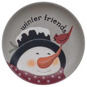 Winter Friends Snowman Plate
