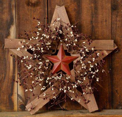 Wood Star Wreath