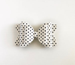Polka dot faux leather