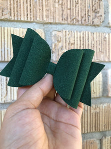 Large Ever green suede