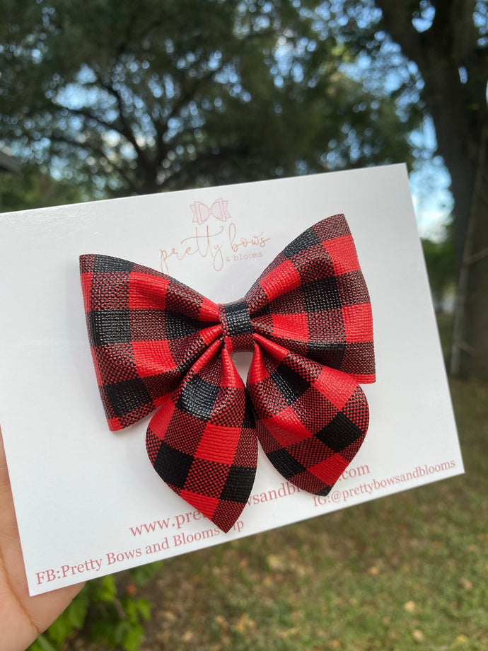 Red buffalo plaid sailor