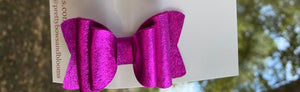 Mini magenta metallic felt