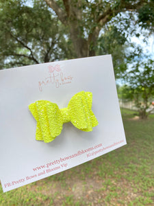 Mini neon yellow chunky glitter