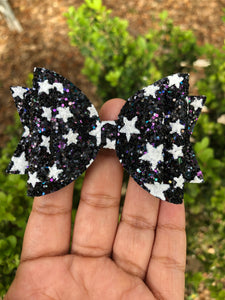 MEDIUM BLACK WITH WHITE STARS