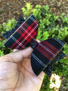 LARGE RED/BLUE/WHITE TARTAN