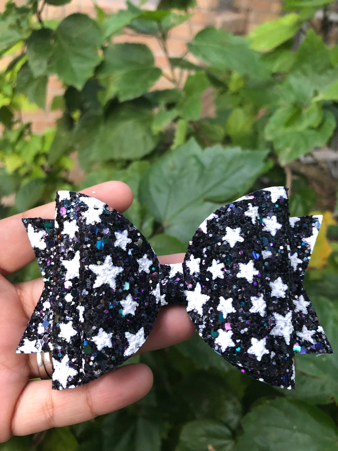 LARGE BLACK WITH WHITE STARS