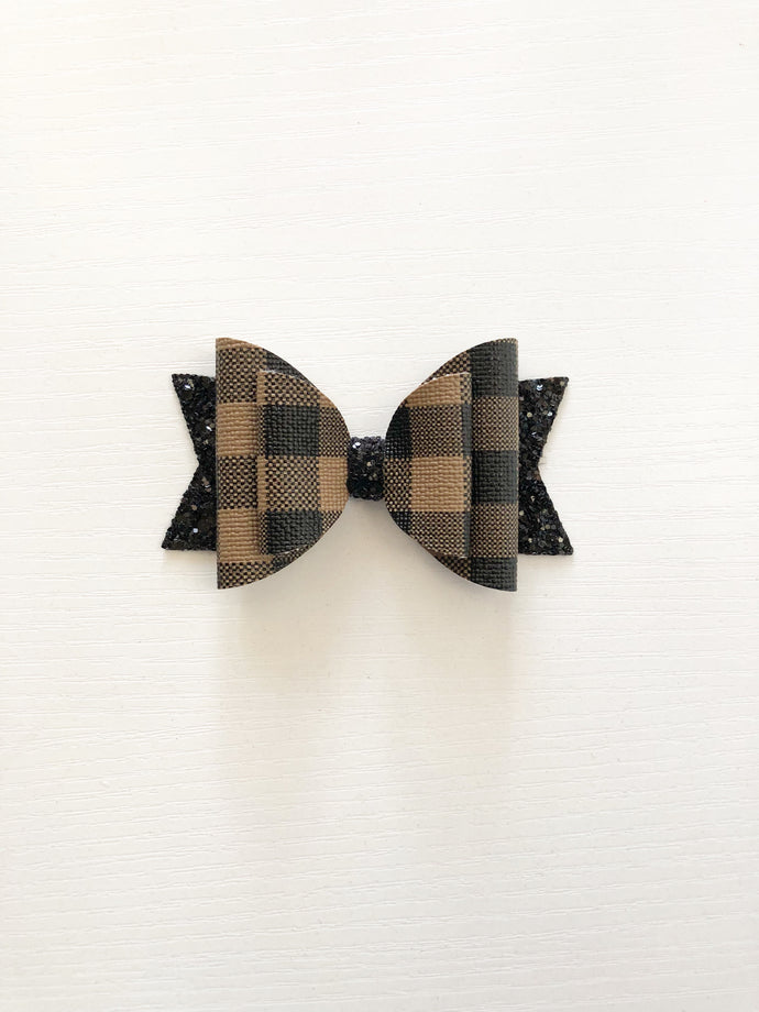 Chocolate buffalo plaid