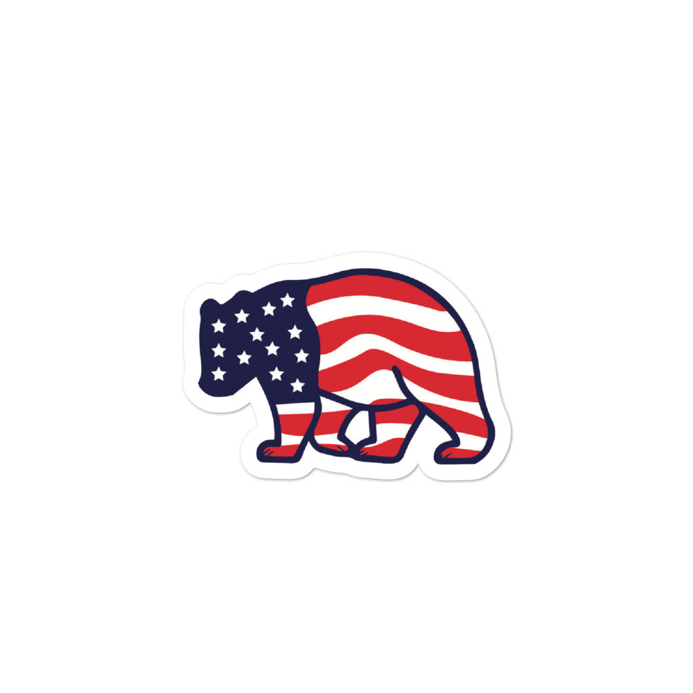 American Bear Sticker