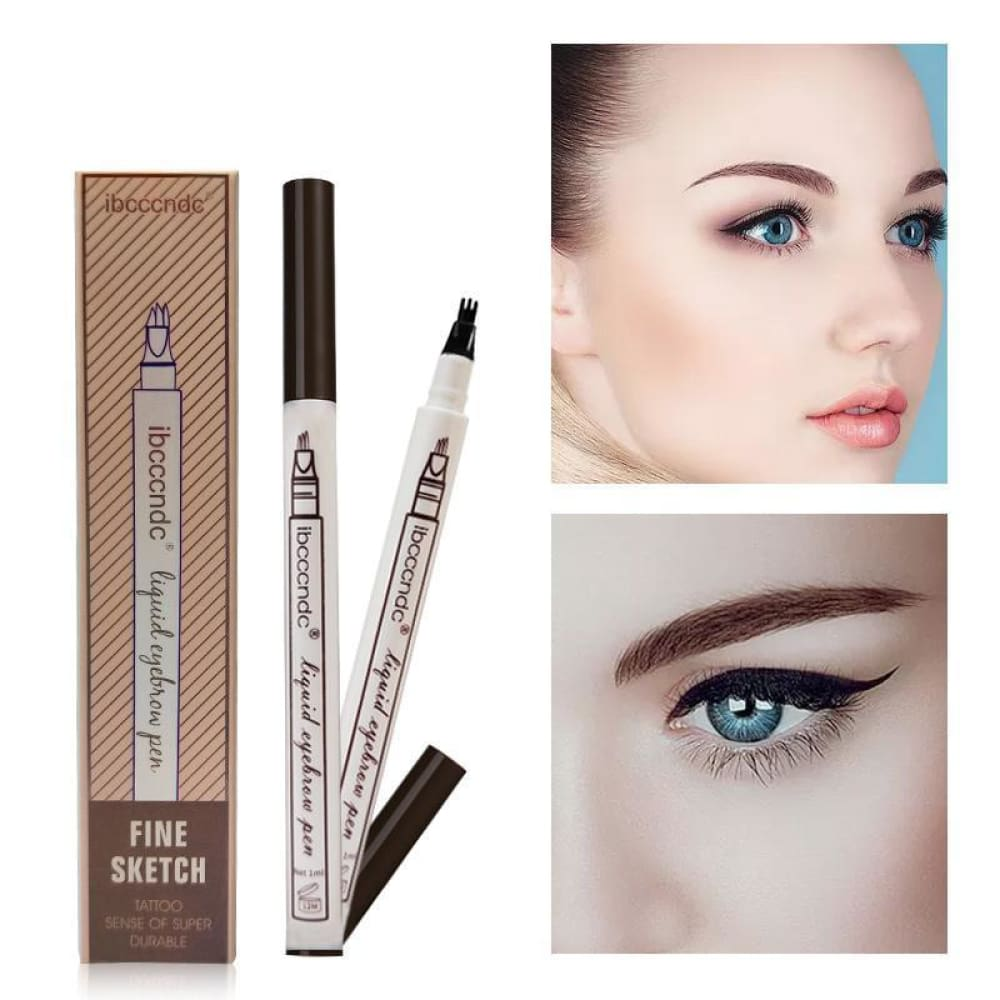 3 Colors Microblading Eyebrow Tattoo Pen Fine Sketch Custom Made 2018