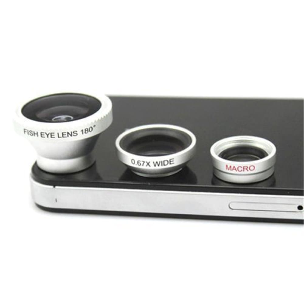 3-Piece Camera Lens Attachment Set For iPhone or Android Custom Made 2018