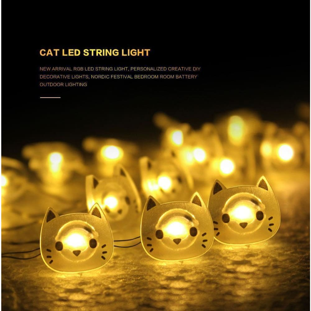Cat Fairy Lights Custom Made 2018