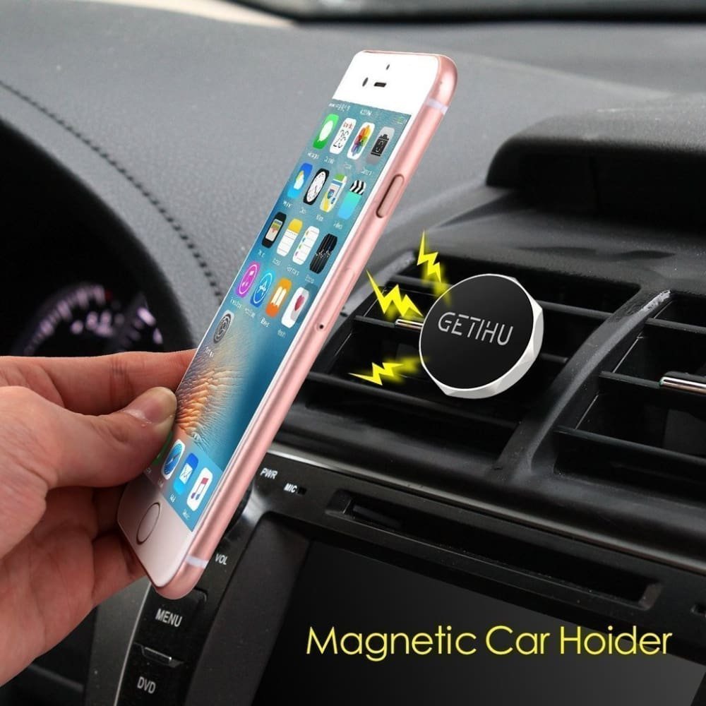 Magnetic Car Phone Holder Air Vent Mount Black Custom Made 2018