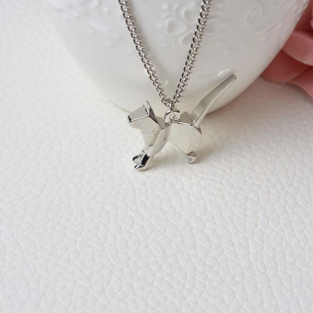 Minimalist Creative Jewelry Cat Necklace For Cat Lovers Custom Made 2018