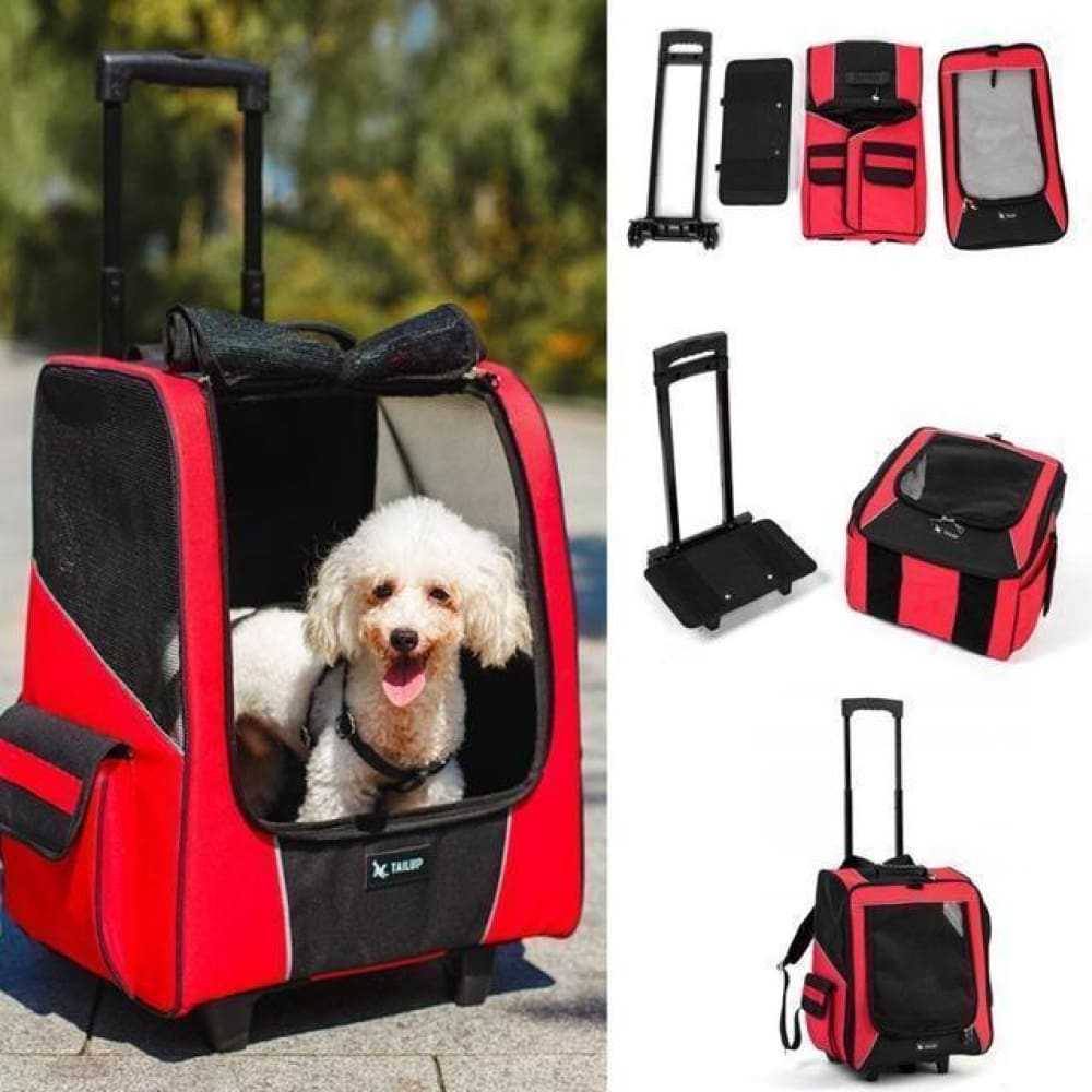 Portable Strollers Backpack Roller Luggage for Dog and Cat Custom Made 2018