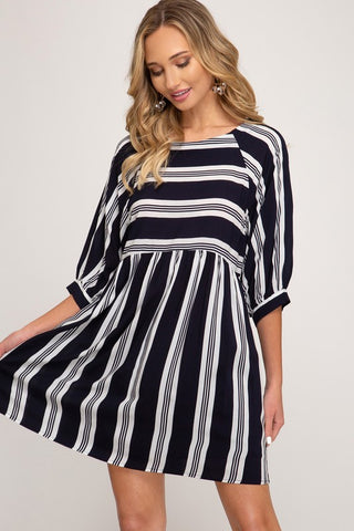 Oddette Striped Dress