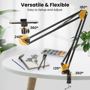 Overhead Tripod Mount Articulating Arm
