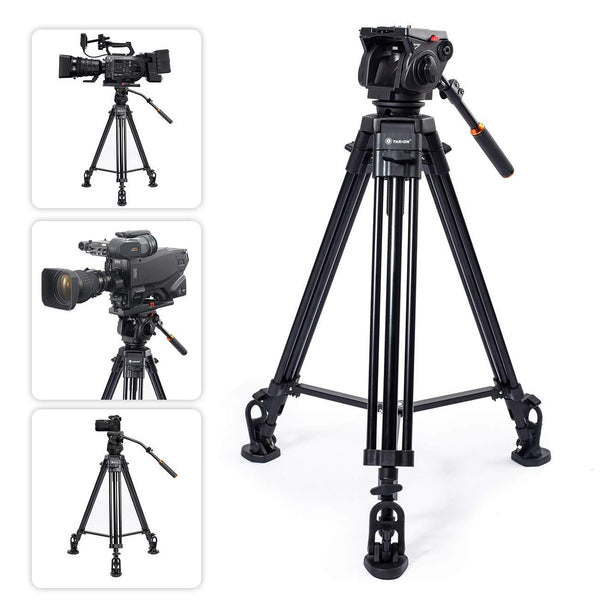 TARION TR-VT77 Camera Tripod with TRP-FH353 Fluid Head