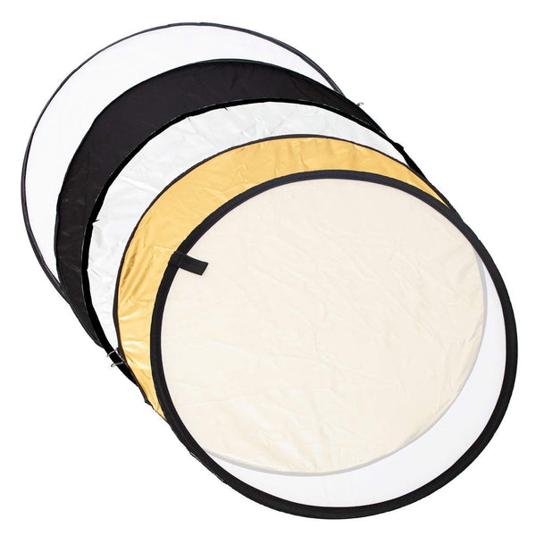 5 in 1 60cm Collapsible Reflector