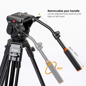 Second-hand TR-VT77 Tripod with TRP-FH353 Fluid Head